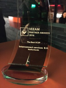 VEEAM award 2016 Interconnect